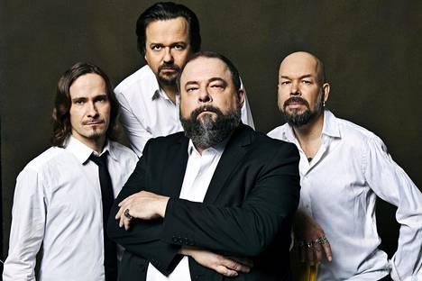 CMX-yhtyeessä soittavat Olli-Matti Wahlström (vas.), Janne Halmkrona, A. W. Yrjänä ja Timo Rasio.
