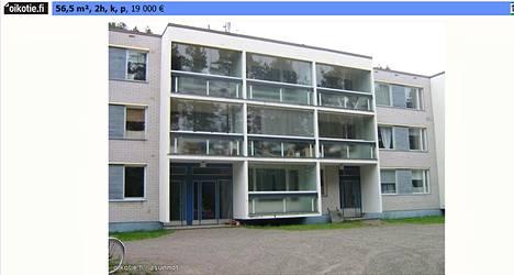 """Снимок с объявления на сайте по продаже квартир """"Ойкотие"""" (Oikotie). Cайт входит в тот же концерн """"Санома"""", что и """"Хельсингин Саномат""""."""