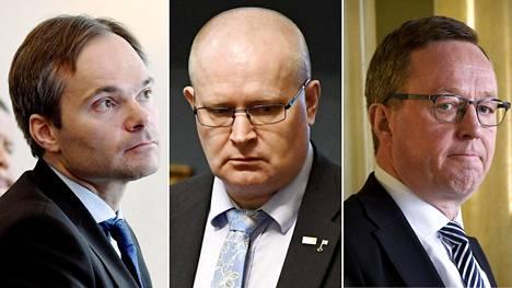 Työllisyydestä vastaavan ministerikolmikon eli sisäministeri Kai Mykkäsen (kok), työministeri Jari Lindströmin (sin) sekä elinkeinoministeri Mika Lintilän (kesk) on määrä puhua kehysriihen linjausten edistymisestä.