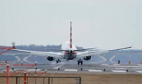 Boeing 737 Max 8 -kone Yhdysvalloissa maaliskuussa 2019 ennen koneiden asettamista lentokieltoon.