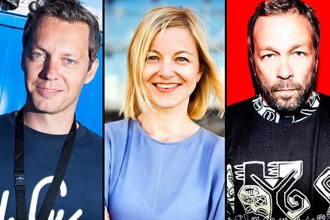 Tuomas Kallio (vas.), Suvi Kallio ja Toni Rantanen omistavat kolmistaan Flow Festivals Oy:n, joka maksoi heille viime vuonna hyvän palkan ja mukavasti osinkoja.
