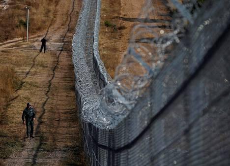 Bulgaria on rakentanut järeän aidan Turkin rajalle. Kuva on syyskuulta 2016.