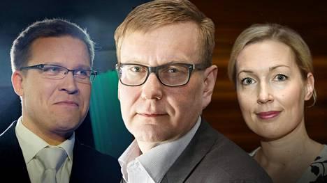 Jussi Eronen (vas.) ja Salla Vuorikoski (oik.) irtisanoutuivat keskiviikkona. Atte Jääskeläinen on vastaavana päätoimittajana joutunut arvostelun keskelle.