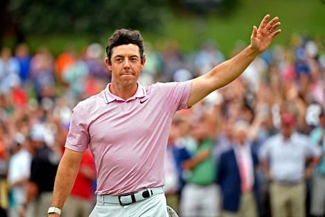 Rory McIlroy juhli PGA-kiertueen finaalin voittoa elokuussa.