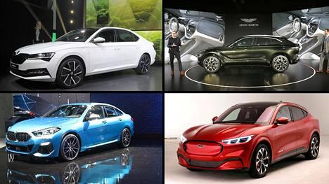 Škoda Superb iV, Aston Martin DBX, BMW 2 Gran Coupe ja Ford Mustang Mach-E