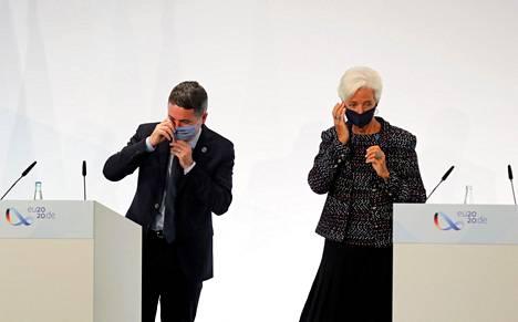 Paschal Donohoe kuvattiin EKP:n pääjohtajan Christine Lagarden kanssa syyskuussa.