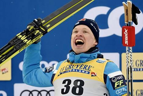 Iivo Niskanen voitti 15 kilometrin perinteisen maailmanmestaruuden Lahdessa vuonna 2017.