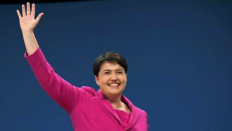 Ruth Davidson puhui puolueväelle keskiviikkona Birminghamissa.