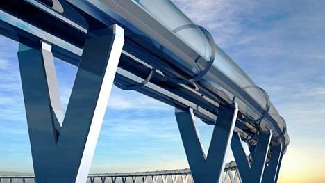 Hyperloop tarkoittaa putkessa kulkevaa junaa, jonka vauhti voisi olla yli tuhat kilometriä tunnissa. Sitä on ideoinut muun muassa Elon Musk.