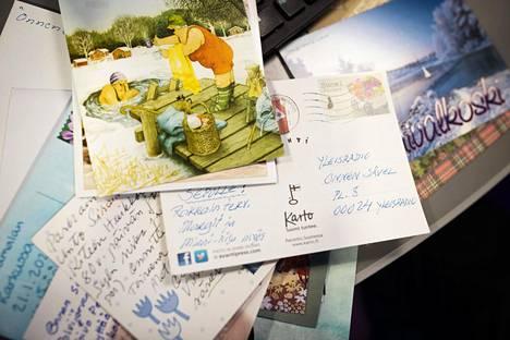 Ohjelmaan tulee edelleen kymmenittäin postikorttitoiveita.