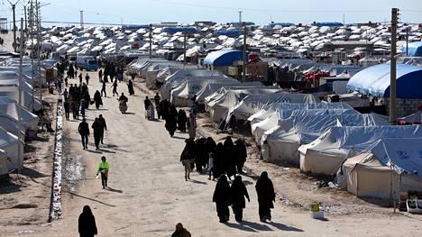 Syyrian al-Holin leirillä on kymmeniätuhansia ihmisiä.
