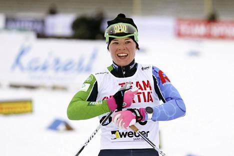 Krista Pärmäkosken viimeinen kilpailu ennen MM-kisoja oli 1. helmikuuta Imatran SM-kymppi, jonka hän voitti ylivoimaisesti.