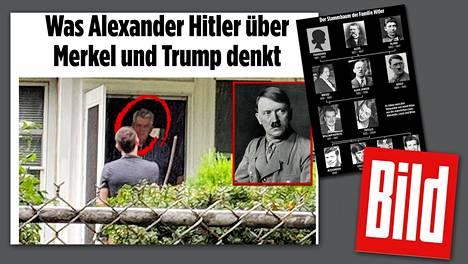 Saksalainen Bild-lehti yritti haastatella Hitlerin sukulaisia Yhdysvalloissa.