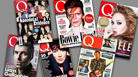 Q-lehden kannessa ehti esiintyä monia pop- ja rockmusiikin kärkinimiä.