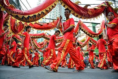 Kiinalaista uutta vuotta juhlitaan myös Manilassa.