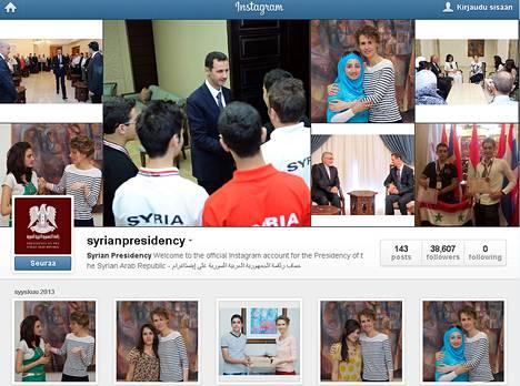 Kuvakaappaus Instagramista.