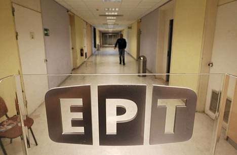 Näkymä Kreikan lakkautetun yleisradioyhtiön ERT:n tiloista viime kesäkuulta.