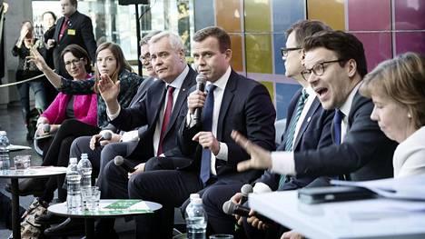 Kaikkien eduskuntapuolueiden puheenjohtajat osallistuivat HS:n vaalitenttiin Sanomatalossa.
