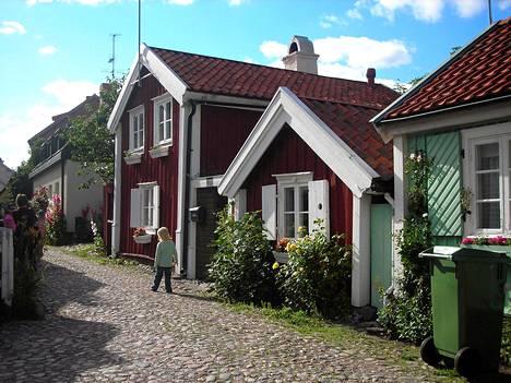Kalmarin vanhaa kaupunkia eteläisessä Ruotsissa.