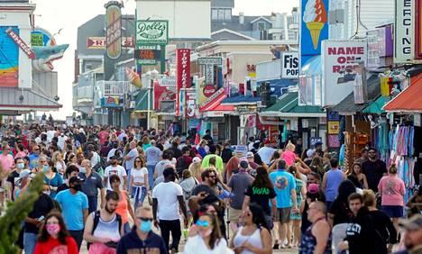 Marylandin Ocean Cityssa oli ruuhkaa perjantaina 23. toukokuuta.