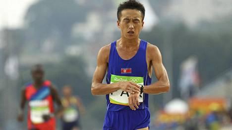 Pohjois-Korean Pak Chol osallistui Riossa maratonille ja oli 27:s.