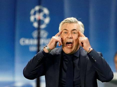 Carlo Ancelotti ohjasi joukkuettaan vielä keskiviikkona Mestareiden liigassa.