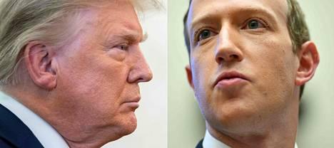 Donald Trump and Facebook founder Mark Zuckerberg.