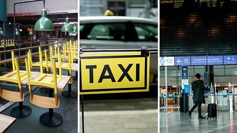 Ely-keskuksen tukien saajia ovat olleet muun muassa ravintolat, turismialan yritykset ja taksiala.