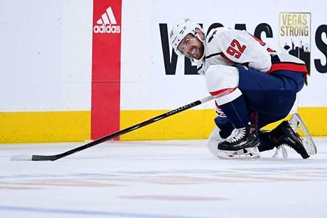 Washingtonin ykkössentteri Jevgeni Kuznetsovin pelaaminen kolmannessa Stanley Cupin finaalissa on epävarmaa.