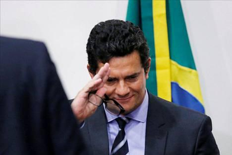Brasilian oikeusministerin virasta eronnut Sérgio Moro 24. huhtikuuta.