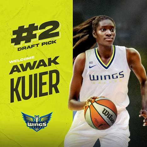 Dallas Wings valitsi Awak Kuierin numerolla kaksi yhdysvaltalaisen WNBA-liigan varaustilaisuudessa.