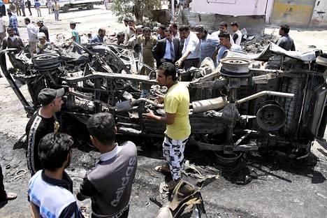 Autopommi räjähti Kerbalassa maanantaina.