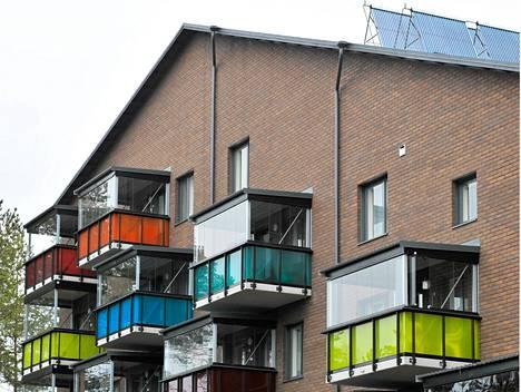 Tervasviitojen vuokra-asuntotalo Seinäjoella, jossa on toteutettu uutta arkkitehtuuria.
