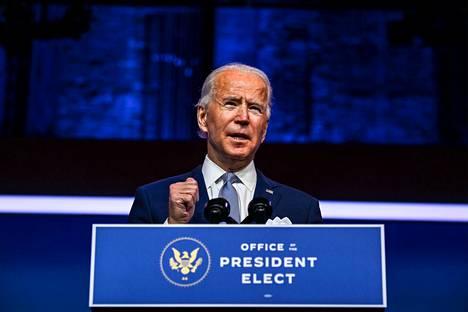 Yhdysvaltojen vaalit voittanut Joe Biden vannoo virkavalansa 20. tammikuuta.