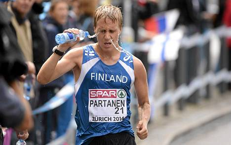 Aku Partanen käveli 50 kilometrillä sijalle 18.