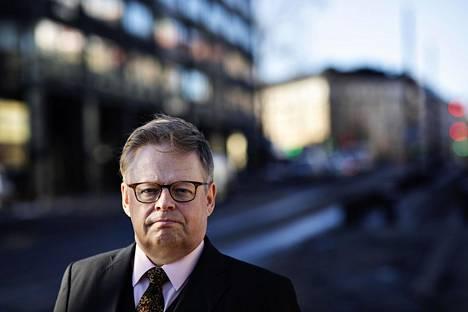 Juhana Vartiainen Arkadiankadulla tiistaina.