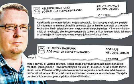 Vanhusten ruokaostoksia toimittaneen Servean ja Helsingin kaupungin välille syntyi erimielisyyksiä sopimusehdoista. Itä-Suomen yliopiston professori Tomi Voutilainen arvioi sopimusta HS:n pyynnöstä.