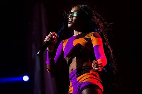 Azealia Banks esiintyi Australian Byron Bayssa kesällä 2015.