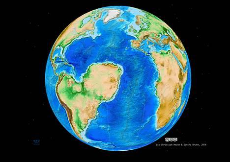 Supermanner Gondwana repeytyi Etelä-Amerikaksi ja Afrikaksi noin 130 miljoonaa vuotta sitten. Se olisi voinut revetä myös eri kohdasta Afrikan yläosissa. Maailma voisi siinä tapauksessa näyttää tältä.
