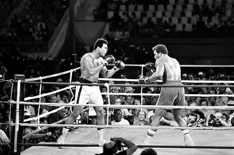 Muhammad Alin (vas.) ja George Foremanin legendaarisesta raskaan sarjan MM-ottelusta tuli torstaina kuluneeksi 40 vuotta.