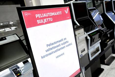 Veikkaus sulki peliautomaattejaan koronavirusepidemian takia maaliskuussa.