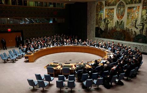 Turvallisuusneuvosto äänesti Syyrian tilanteesta 27. syyskuuta.