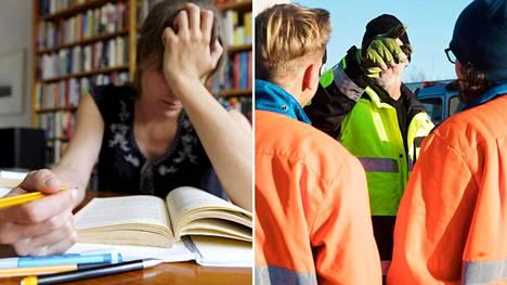 Lukiolaiset stressaavat koulutusvalintojaan enmmän kuin ammatillisessa oppilaitoksessa opiskelevat. Koulutuspolut ovat myös eriytymässä niin, että yhä suurempi osa lukiolaisista haluaa jatkaa yliopistossa eikä ammattikorkeakoulussa, joka taas on ammattikoululaisten tähtäimessä.