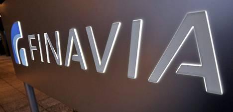 Finavian logo Helsinki-Vantaan lentokentällä.