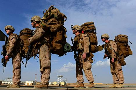 Yhdysvallat panostaa Kiinan ohella eniten sotilaallisen voimaansa. Kuvassa yhdysvaltalaisia sotilaita Afganistanissa lokakuussa 2014.