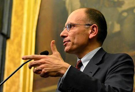 Pääministeriehdokas Enrico Letta yrittää muodostaa hallitusta Italiaan.