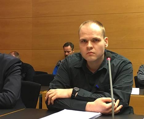 Markus Pönkä Helsingin käräjäoikeudessa toukokuussa vuonna 2016.