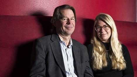 Isä ja tytär. Oikeustieteen professori Martin Scheinin oli yllättynyt, kun Mirjam-tytär alkoi opiskella oikeustiedettä.