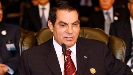 Zine el-Abidine Ben Ali osallistui arabimaiden huippukokoukseen Damaskoksessa Syyriassa marraskuussa 2008.
