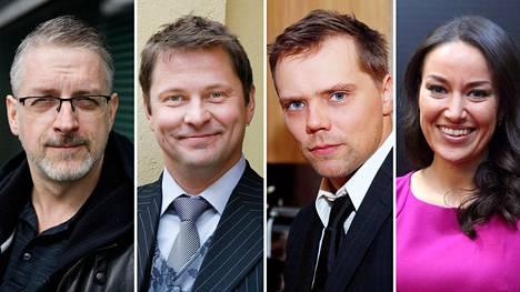 Marko Kilpi (vas.), Ismo Apell, Pete Lattu ja Jasmin Hamid.